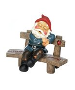 "Fennco Styles Collectible Dreaming And Wishing Gnome Statue - 7.38"" W x ... - $26.30"