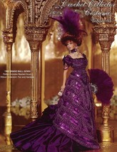 1903 Grand Ball Gown For Barbie Doll Paradise Vol 93 Crochet Pattern Leaflet New - $7.17