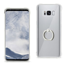 Reiko Samsung Galaxy S8 Transparent Air Cushion Protector Bumper Case Wi... - $11.68