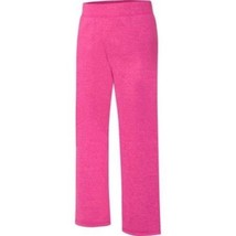 Hanes Girls Fleece Open Leg Sweat Pants Size Large 10-12 Fuchsia NEW - $10.88