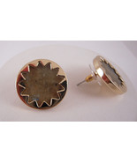 House of Harlow 1960 14KT Y/G Plated Labradorite Sunburst Button Earrings - $37.42