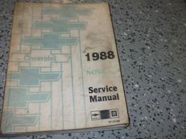1988 GM Chevrolet Chevy Nova Service Shop Reparatur Manuell Buch Fabrik ... - $9.94