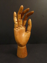 """Antique All Articulated Wooden Mannequin Hand 9""""1/2  (1) - $100.00"""