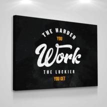 Entrepreneur Canvas Print Wall Office Hard Work Motivation Modern Art 18... - $71.96