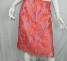 Anthropologie Tracy Reese Skirt Lace Pink Party Romantic Fully Lined Size 4 - $37.25