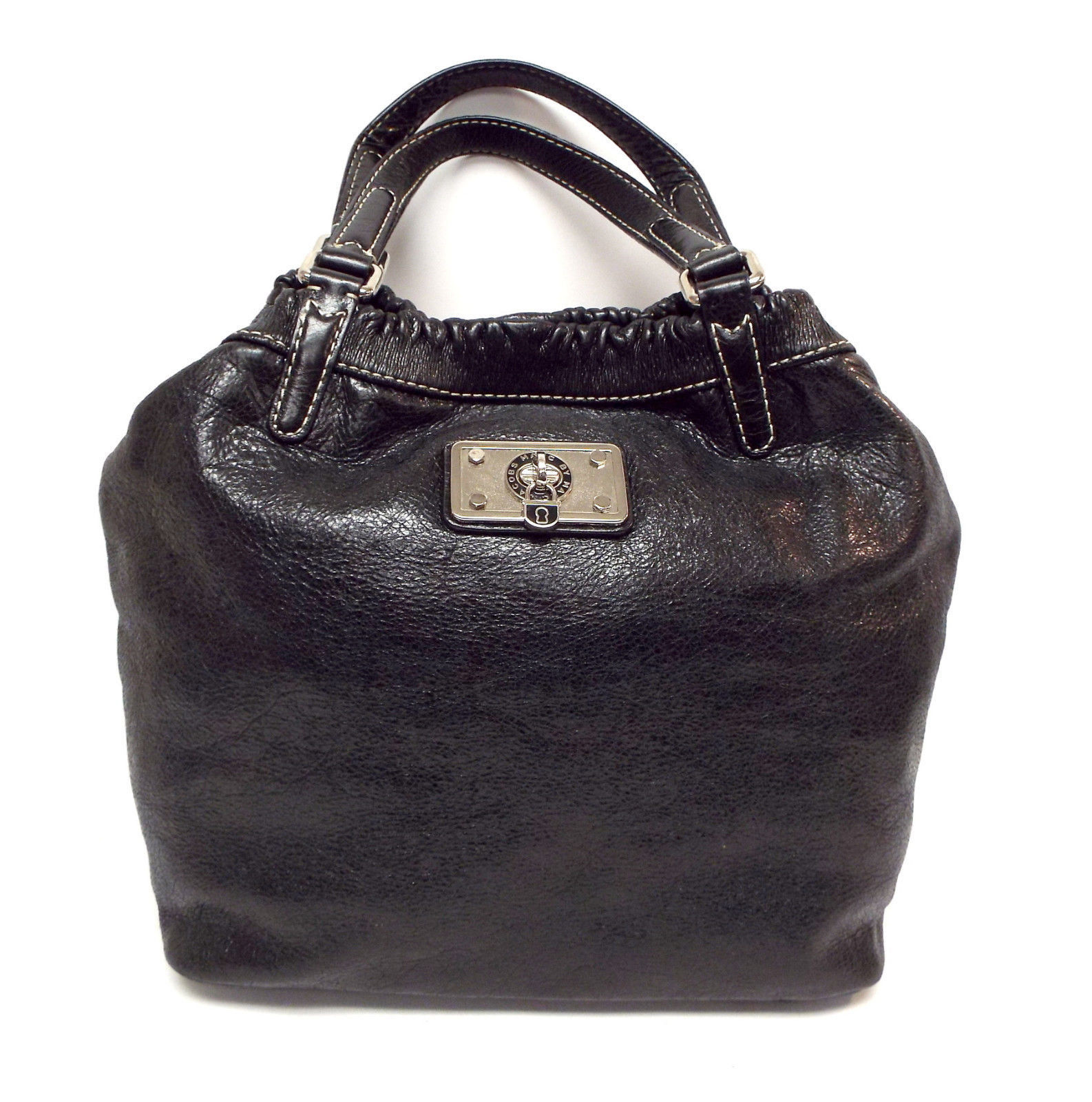 MARC by MARC JACOBS Black Hobo Tote Leather Bag w/ Lock Charm - $84.00