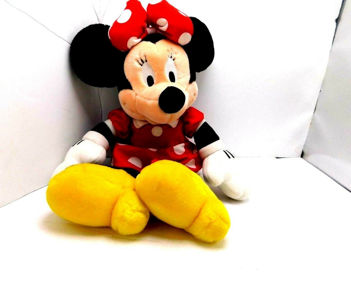 "Primary image for  Disney Minnie Mouse Stuffed Plush 17"" Animal Red Black White Yellow"