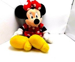 "Disney Minnie Mouse Stuffed Plush 17"" Animal Red Black White Yellow  - $11.87"