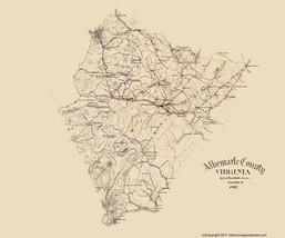 Albermarle County Virginia - HOTCHKISS  1867 - 23 x 27.59 - $36.95+