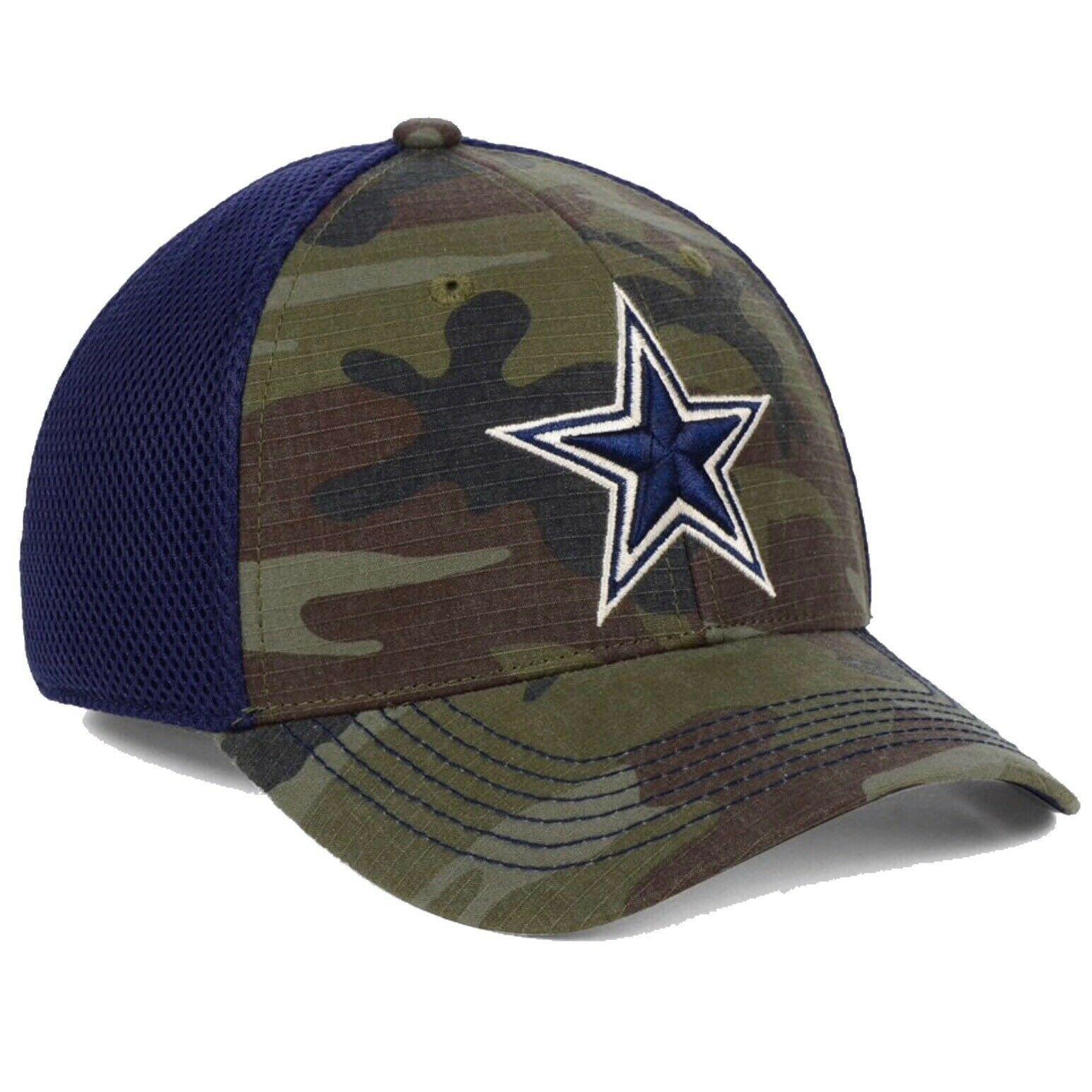 Dallas Cowboys NFL DCM Grunt Camouflage S/M Flexfit Fitted Cap Hat $30