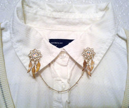 Mystic Gem Dream Catcher Collar Pins Dreamcatcher Sweater Clips Boho Col... - $68.00