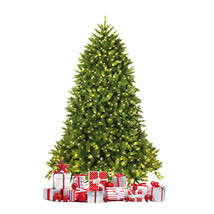 Premium Hinged Artificial Fir Christmas Tree with LED - $100.01