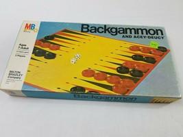 Vintage 1973 Complete Milton Bradley Backgammon Acey-Deucey Game #4319  - $17.75