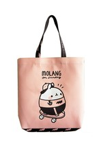Molang Double sided Tote Bag Black and Pink Eco reusable Shoulder Shopper Pouch