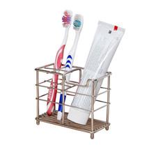 Toothbrush Holder Stainless Steel Rack Bathroom Stand Mount Storage Orga... - $14.50