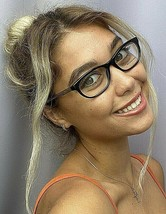 New BURBERRY B 8021 0735 52mm Black Cats Eye Rx Women's Eyeglasses Frame - $119.99