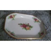 1962 Signed Royal Albert Old Country Roses Porcelain  Serving or Dresser Tray  - $18.00