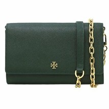 Tory Burch Emerson Chain Wallet Cross Body Bag in Jitney Green - $242.55