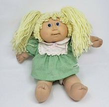 VINTAGE CABBAGE PATCH KIDS BLONDE HAIR GIRL W TEETH STUFFED ANIMAL PLUSH... - $55.17