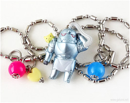 Alphonse Figure Charm Necklace, FMA, Anime Jewelry - $18.00