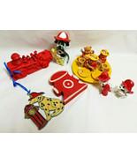 Lot of Fireman Puppy Dogs Dalmation Dalmatian Figurines Sun-catcher Mini... - $29.99