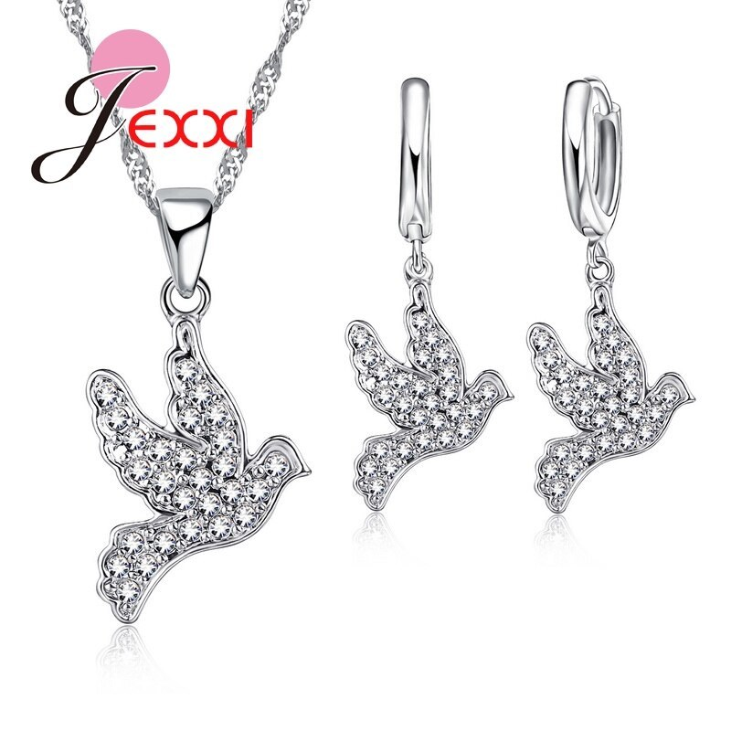 New Arrival Fashion Animals Jewelry Sets 925 Sterling Silver Jewelry  Birds Pend - $12.77