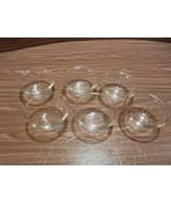 "6 Vintage Pyrex 4 oz ""$"" Custard Cups Ramicans Flared rim #462 - 1920's - $25.69"