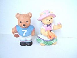BC- Bronson Collectibles - gardening bear- Homco 1408 football bear lot of 2 - $5.97