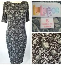 Legging Material Lu La Roe Julia Dress Nwot Black- Small Stretch Floral Design - $24.14