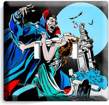 DRACULA PRINCE OF DARKNESS BLOOD SUCKING VAMPIRE 2 GANG LIGHT SWITCH PLA... - $12.99