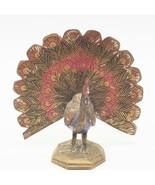 Laiton Vintage Paon Figurine - $24.74