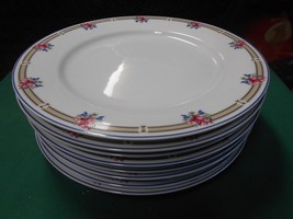 "Beautiful NIKKO China ""Victoria"" Made in Thailand- Set of 8 DINNER Plates - $43.37"