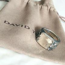 David Yurman Men's Silver Griffin Signet Ring Size 10 9mm Authentic - $242.25