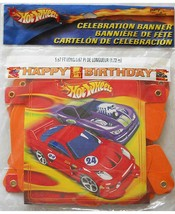 Hot Wheels Fast Action Jointed Happy Birthday Banner 1 Per Pkg Party Supplies - $4.54