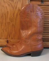 Laredo BOOTS 10.5 D Tan Leather Western Cowboy Men's  Pointy Toe Fancy S... - $25.72