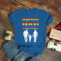 Proud Dad Lgbt Gay Pride Gay Father T-Shirt Birthday Funny Ideas Gift Vi... - $15.99+