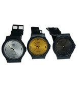 Casio MQ76 Men's Round Gold, Black, Silver, Dial Classic Resin Casual Watch - $18.99