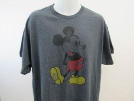 Mickey Mouse Disney T-Shirt Hommes XXL Gris A74 - $17.00
