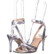 Michael Kors 54198 Ankle Strap Sandals 386, Silver, 6 US - $56.63