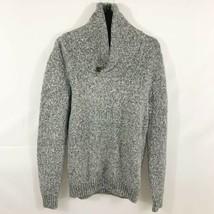 Men Abercrombie & Fitch Shawl Collar Sweater Heather Grey- Medium Cotton... - $29.99