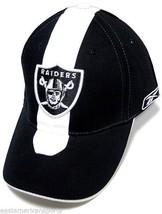 Oakland Raiders NFL Reebok Sideline Hat Cap Black / White Skunk Stripe OSFA - $305,85 MXN