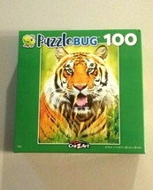 Puzzlebug Tiger Jigsaw Puzzle Panting Tiger in the Wild Life 100 Pcs New - $6.93