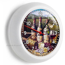 Vintage Winery Wine Bottles Wall Clock Kitchen Dining Living Pizzeria Cafe Decor - $23.39