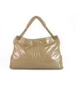 Chanel Large CC Beige Nude Patent Vinyl Rock & Chain Large XL Cabas Bag ... - $2,861.10
