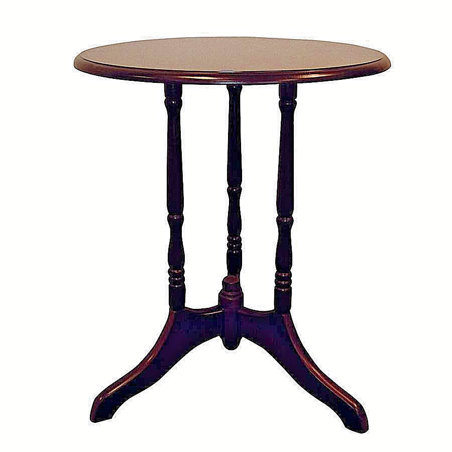 Primary image for Cherry finish round accent table or plant stand ORE H-8