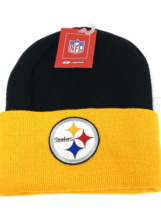 Pittsburgh Steelers Vintage NFL Cuffed Knit Logo Hat (New) By Reebok - $16.99