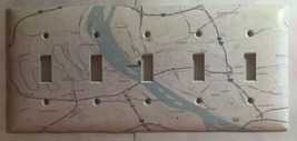 City Map Harrisburg PA Light Switch Outlet Toggle Rocker Cover Plate Home Decor image 3