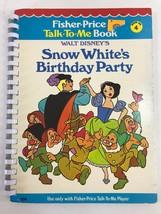 Fisher Price Talk To Me Player Book SNOW WHITES BIRTHDAY PARTY #4 Disney - $9.49