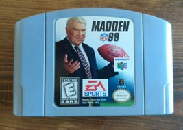 Madden NFL 99 (Nintendo 64, 1998) Cartridge Only, Tested & Working - $6.79