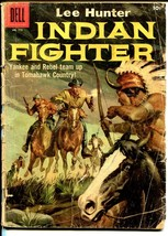 Lee Hunter Indian Fighter-Four Color Comics #779 1957-Dell-western actio... - $18.62